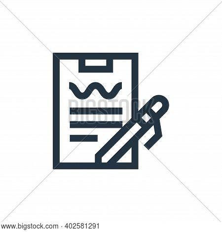 analysis icon isolated on white background. analysis icon thin line outline linear analysis symbol f