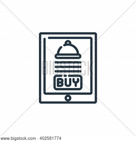 food delivery icon isolated on white background. food delivery icon thin line outline linear food de