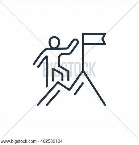 climbing icon isolated on white background. climbing icon thin line outline linear climbing symbol f