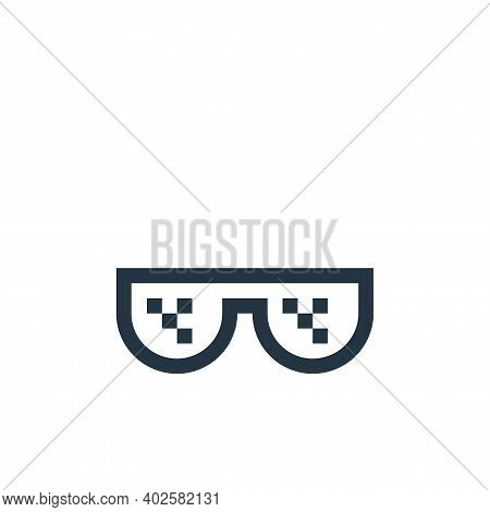 sunglasses icon isolated on white background. sunglasses icon thin line outline linear sunglasses sy