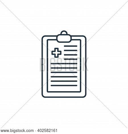 diagnosis icon isolated on white background. diagnosis icon thin line outline linear diagnosis symbo