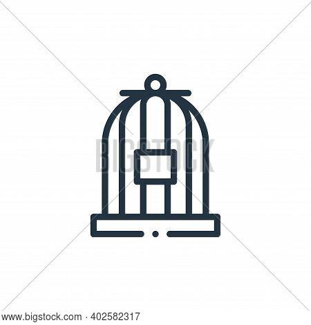 birdcage icon isolated on white background. birdcage icon thin line outline linear birdcage symbol f