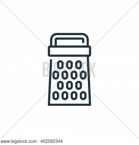 cheese grater icon isolated on white background. cheese grater icon thin line outline linear cheese
