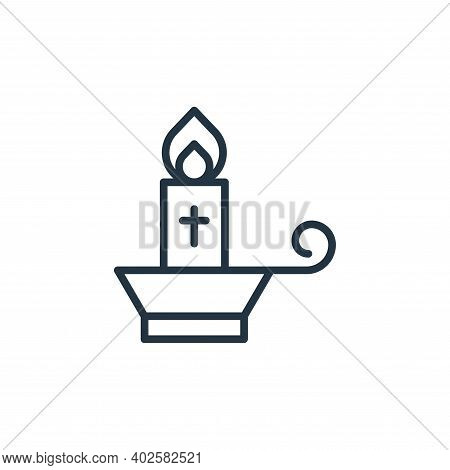 candle icon isolated on white background. candle icon thin line outline linear candle symbol for log