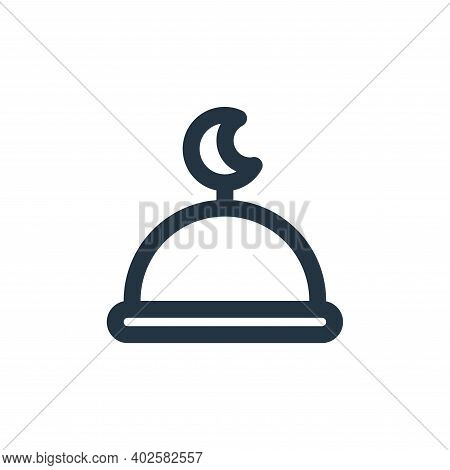 mosque icon isolated on white background. mosque icon thin line outline linear mosque symbol for log