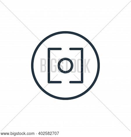 lens icon isolated on white background. lens icon thin line outline linear lens symbol for logo, web