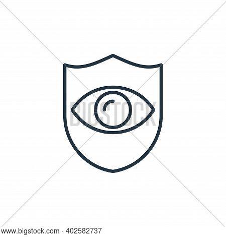 eye insurance icon isolated on white background. eye insurance icon thin line outline linear eye ins
