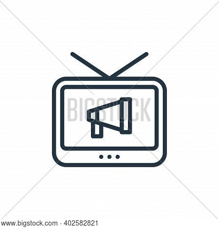 television icon isolated on white background. television icon thin line outline linear television sy