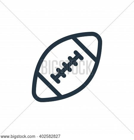 american football icon isolated on white background. american football icon thin line outline linear