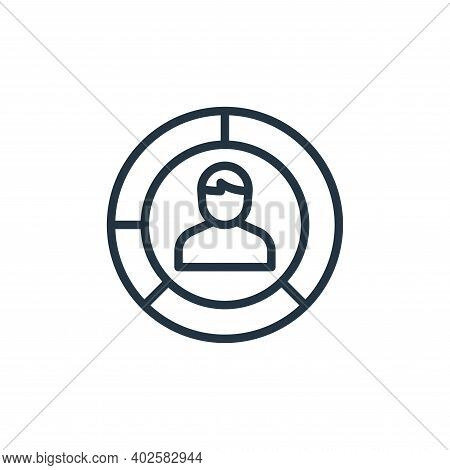 graph icon isolated on white background. graph icon thin line outline linear graph symbol for logo,