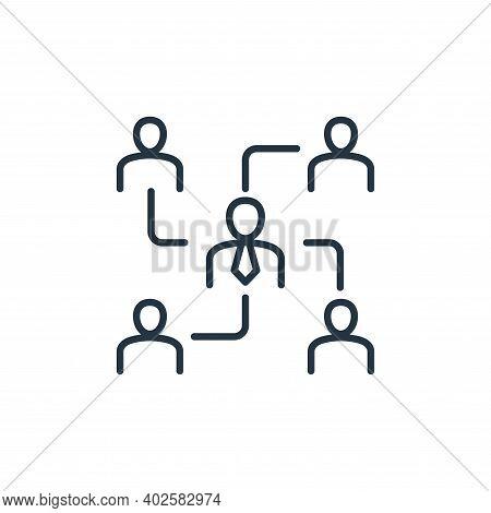 organization icon isolated on white background. organization icon thin line outline linear organizat