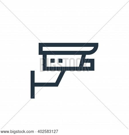 cctv icon isolated on white background. cctv icon thin line outline linear cctv symbol for logo, web