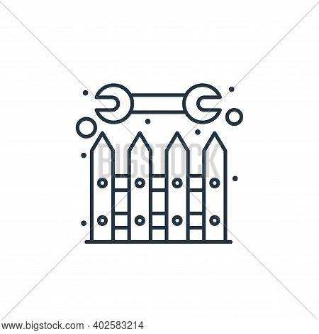 boundary icon isolated on white background. boundary icon thin line outline linear boundary symbol f