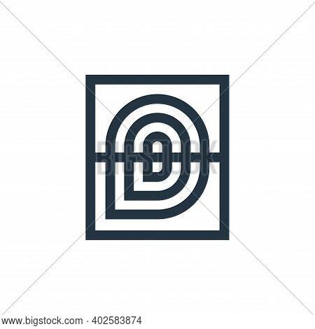 fingerprint icon isolated on white background. fingerprint icon thin line outline linear fingerprint
