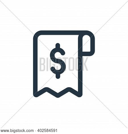 receipt icon isolated on white background. receipt icon thin line outline linear receipt symbol for
