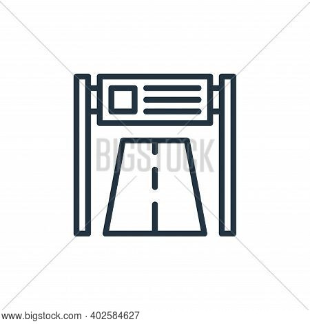 road banner icon isolated on white background. road banner icon thin line outline linear road banner