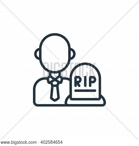 undertaker icon isolated on white background. undertaker icon thin line outline linear undertaker sy