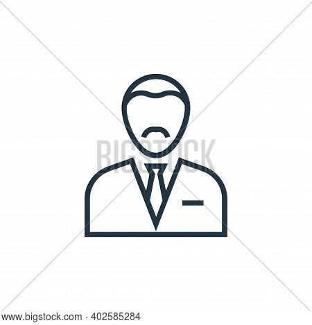 accountant icon isolated on white background. accountant icon thin line outline linear accountant sy