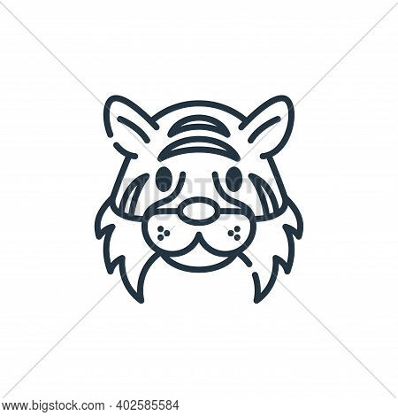 tiger icon isolated on white background. tiger icon thin line outline linear tiger symbol for logo,