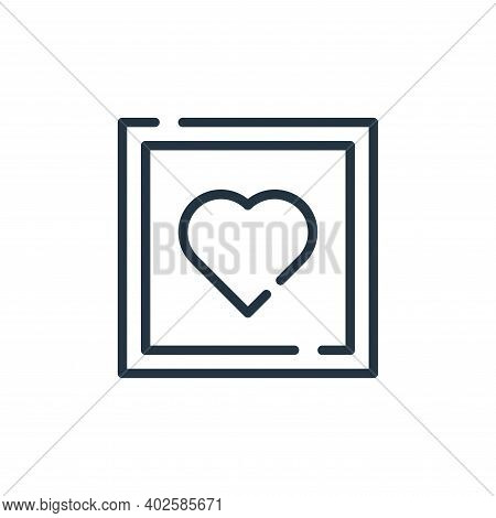 love icon isolated on white background. love icon thin line outline linear love symbol for logo, web