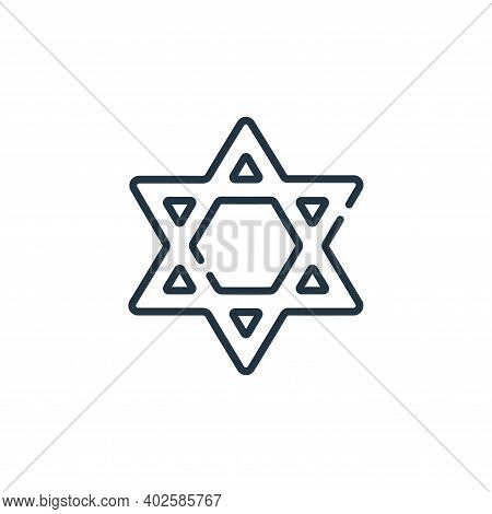 Judaism icon isolated on white background. Judaism icon thin line outline linear Judaism symbol for