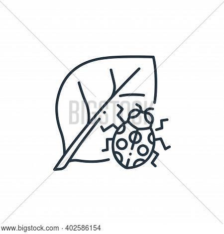ladybug icon isolated on white background. ladybug icon thin line outline linear ladybug symbol for