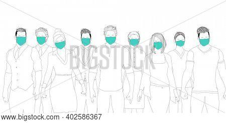 First Responder Team for Coronavirus Pandemic 3d Render
