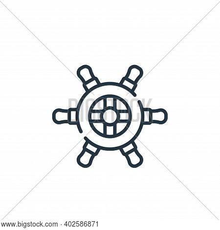 rudder icon isolated on white background. rudder icon thin line outline linear rudder symbol for log