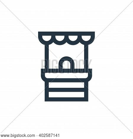 ticket office icon isolated on white background. ticket office icon thin line outline linear ticket