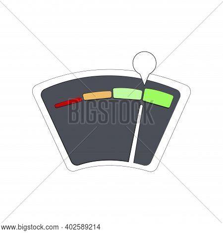 Equipment Finance Guage For Credit Bank Application. Vector Meter Score Level, Measure Customer Fina