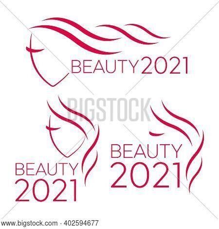 Beauty Logo For Hair Salon. Logo Hair Vector