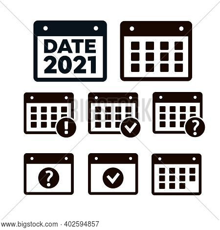 Vector Time And Calendar Icons Isolated. Plan Vector. Date Icons