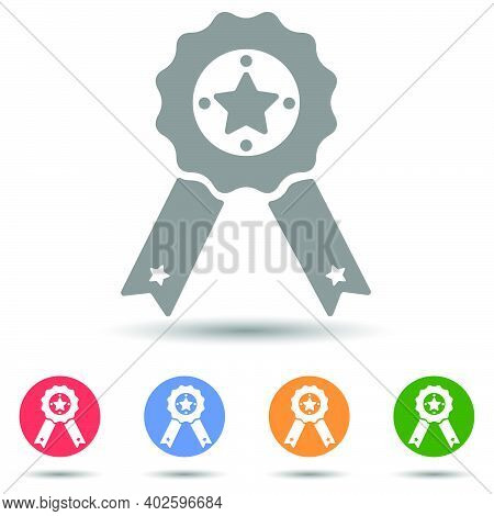 Achievement Champion Award, Medal Of Honor Icon Vector