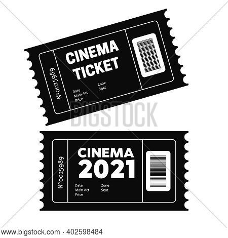 Vector Two Designed Cinema Tickets. Movie Tickets. Event Icons