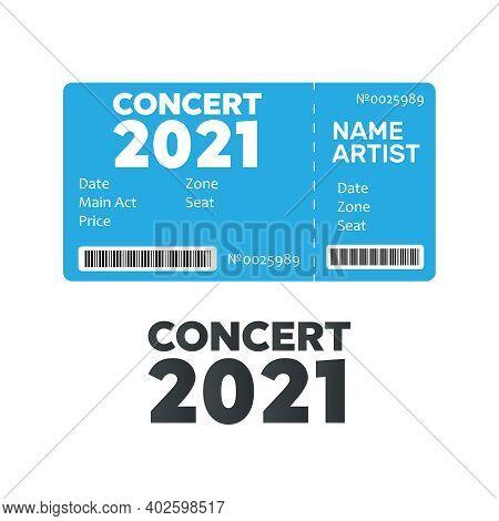 Ticket Concert Invitation. Music, Dance, Live Concert Tickets Templates