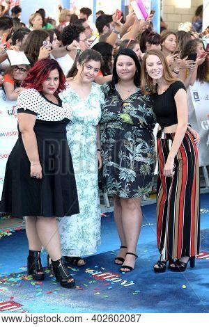 Giffoni Valle Piana, Sa, Italy - July 23, 2019 : Cast Movie : Dolcissime, Giulia Barbuto, Alice Manf