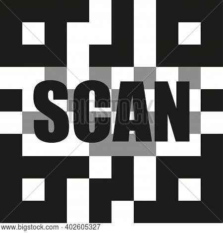 Qrcode Scanning Vector Icon, Qr Code Scan. Laser Scanner Isolated Symbol Illustration.