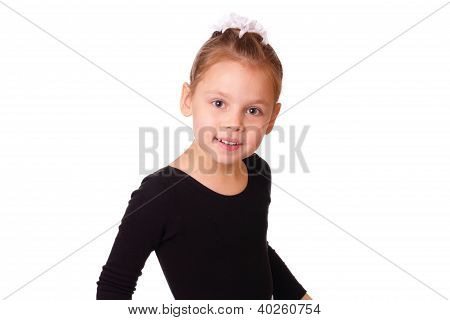 Smiling Little Ballerina Girl