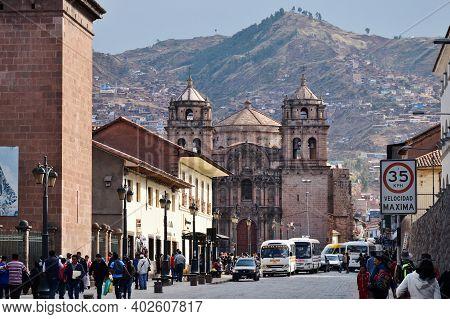 Cusco, Peru  - August 31, 2016: City Street Of Cusco, Peru On August 31, 2016.