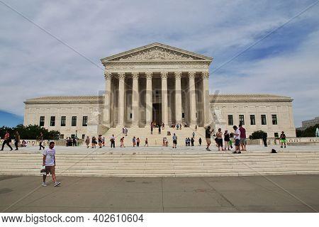 Washington, United States - 03 Jul 2017: The Building In Washington, United States