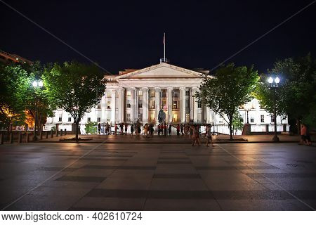 Washington, United States - 04 Jul 2017: The Building In Washington, United States