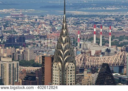 New York, United States - 30 Jun 2017: The View From Empire State Building In New York, United State