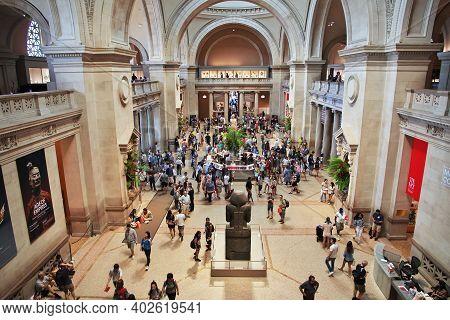 New York, United States - 01 Jul 2017: New York Metropolitan Museum, United States