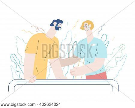Medical Insurance - Rehabilitation And Physiotherapy -modern Flat Vector Concept Digital Illustratio