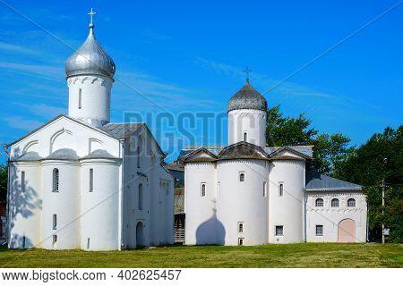 Novgorod The Great, Procopius Church And The Church Of The Myrrh-bearing Women At The Yaroslav Court