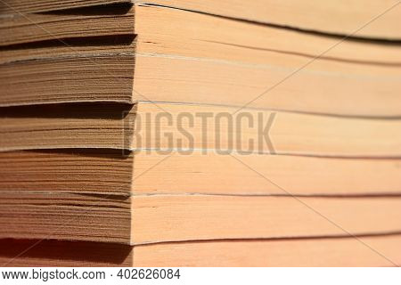 Detail Of Stack Of Old Paperback Books