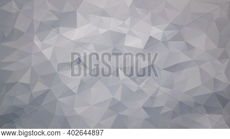 Vector Abstract Irregular Polygon Background - Triangle Low Poly Pattern - Color Light Cloud Silver
