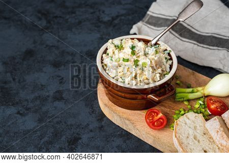 Smoked Whitefish Paste With Mayonnaise, Egg And Chives