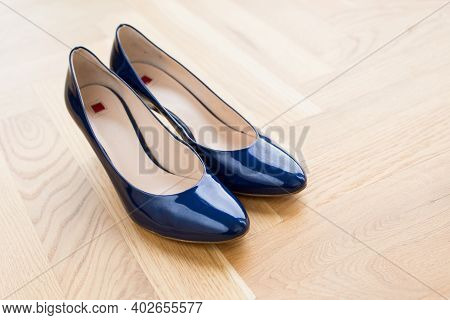 Stylish Bridal Blue Shoes With Heels, Accessories, Footwear, Bridal
