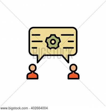 Opinion Discuss Migration Outline Icon. Element Of Migration Illustration Icon. Signs, Symbols Can B